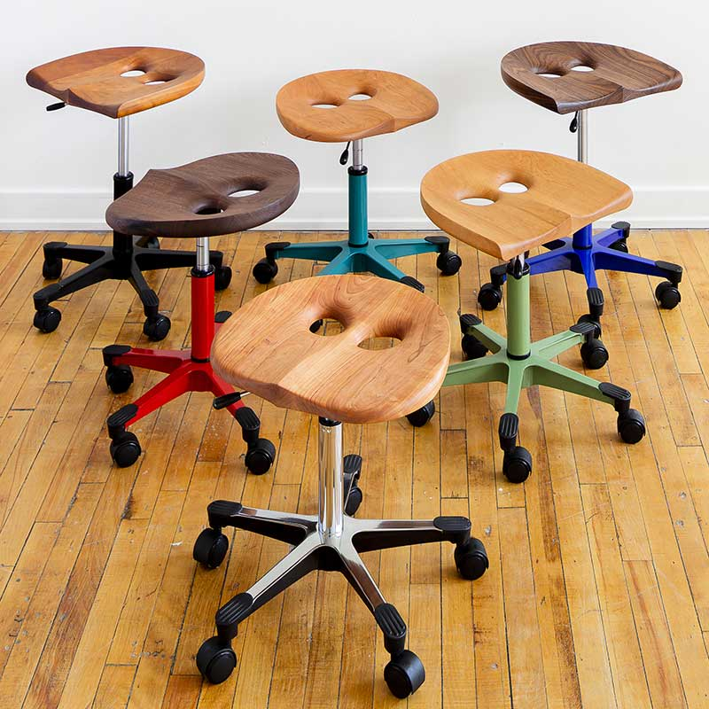 Metal Base Owl Stools