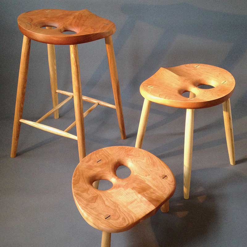 Wooden Owl Stools